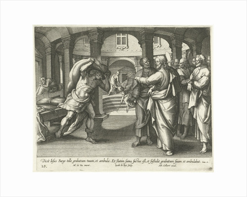 Healing of the man at the pool of Bethesda by Adriaen Collaert