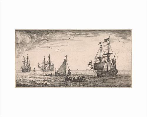 Ships at sea by Jan Houwens I