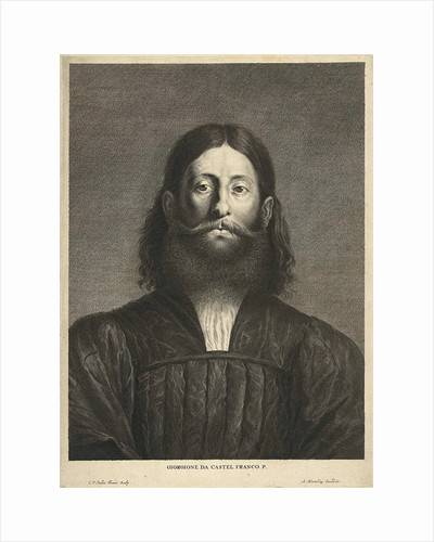 Portrait of painter Giorgione by Abraham Bloteling