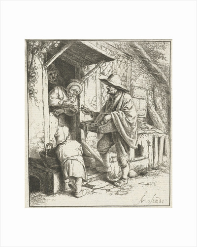 Brill Seller and an old woman by Adriaen van Ostade