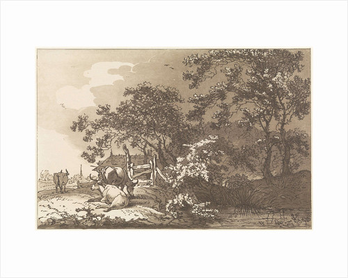 Landscape with cows by Timothy Sheldrake