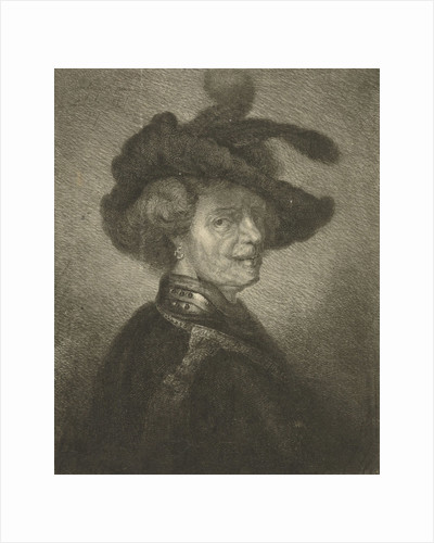 Man with feathered beret by Johannes Mock