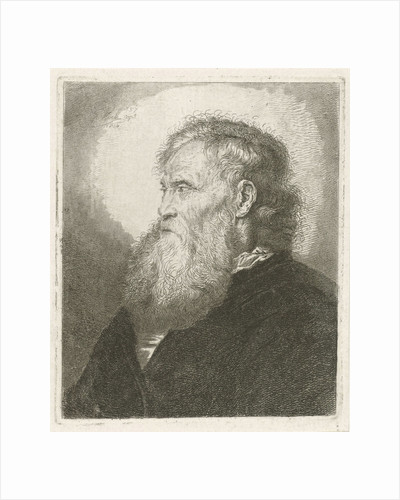 Portrait of an old man with beard by Johannes Mock