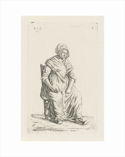 Sitting farmer from Wallonia Belgium by Anthonie Willem Hendrik Nolthenius de Man