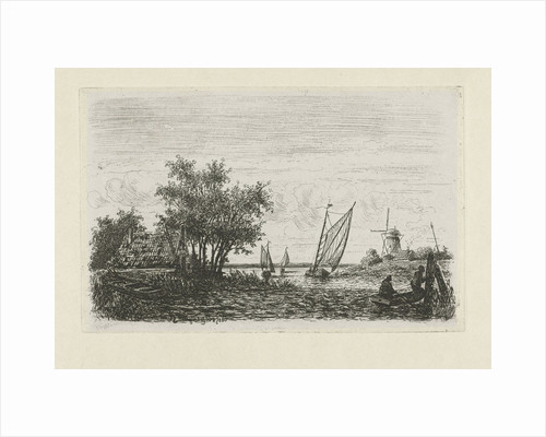 Boats on a lake by Joseph Hartogensis