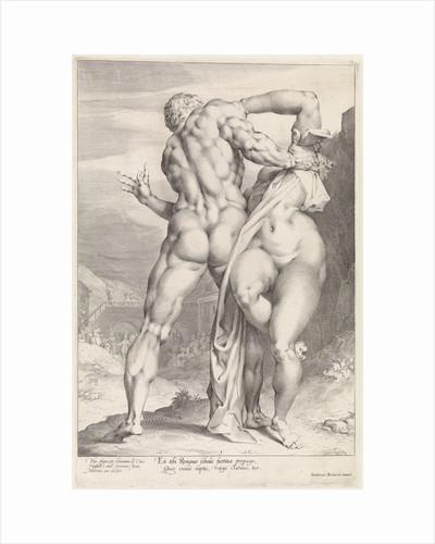 Rape of a Sabine woman, rear view by Louis Renard