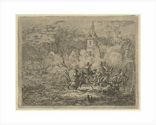 Conquest of a village by Gerardus Emaus de Micault