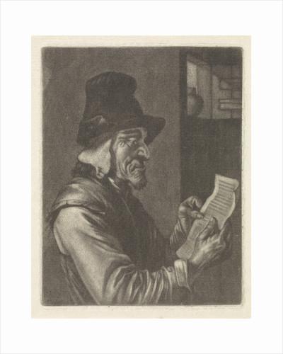 Letter Reading man by Jan Verkolje I