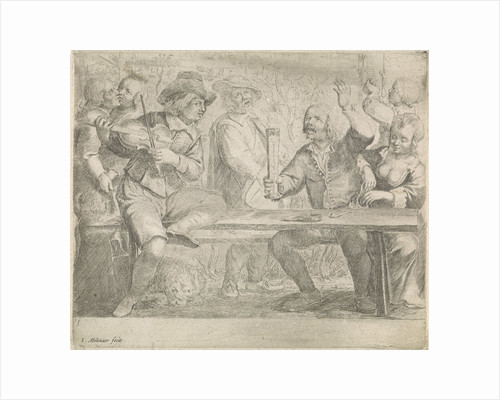 Musicians and drink in a tavern by Jan Miense Molenaer