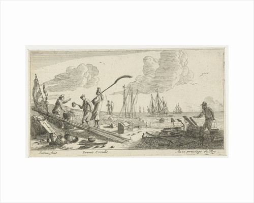 Sailors at the seaside by Lodewijk XIV