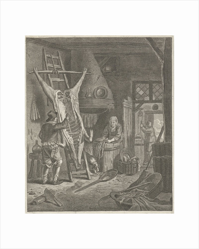 Peasant Interior with carcass by Jacob Louys