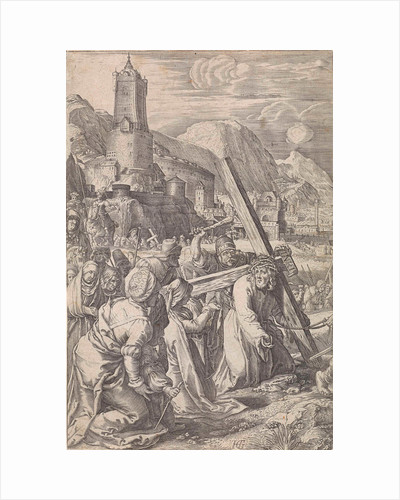 Carrying of the Cross by Abraham Hogenberg