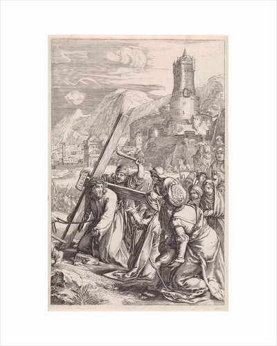 Carrying of the Cross by Hendrick Goltzius