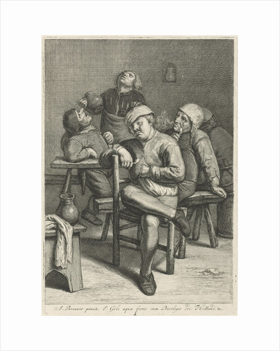 Tavern Scene with smoking farmers by Anonymous