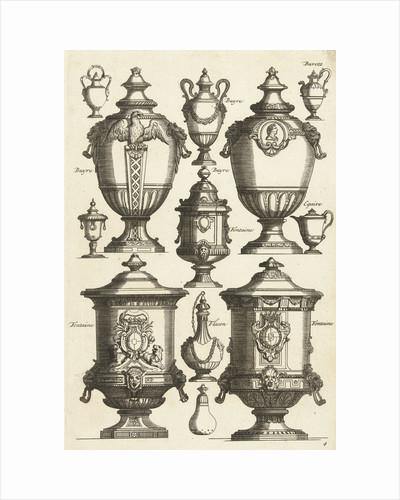 Twelve designs for goldsmiths, Daniël Marot (I) by Anonymous