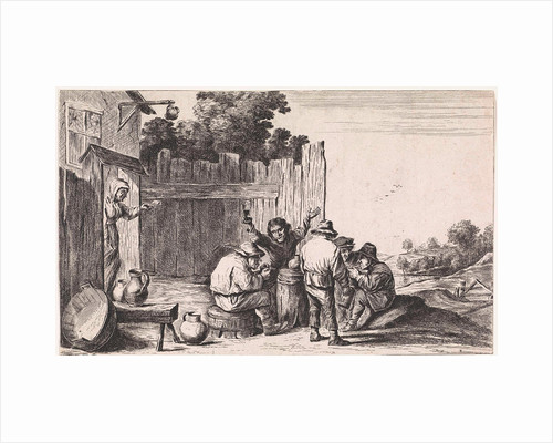 Five farmers around a barrel by Anonymous