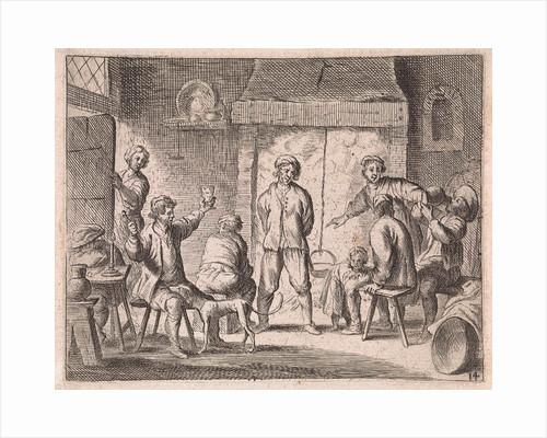 Peasants in an inn by Cornelis de Wael