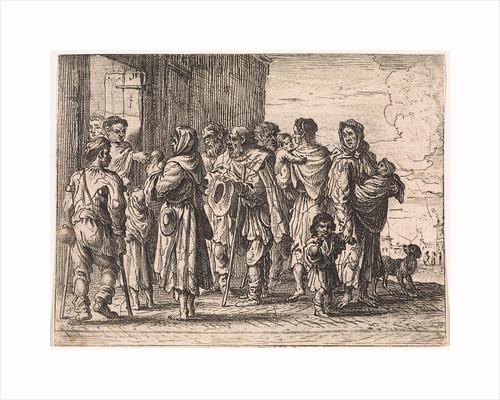 Beggars for a monastery by Cornelis de Wael