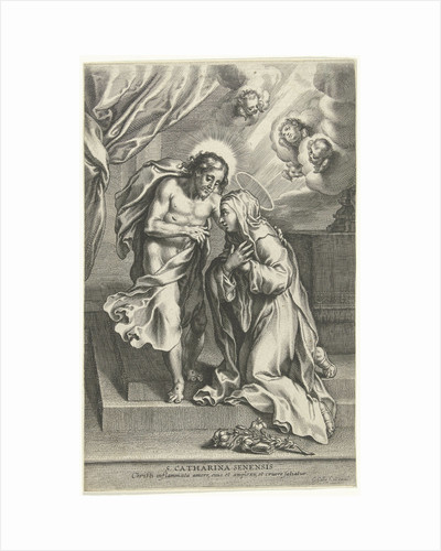Christ and St. Catherine of Siena by Cornelis Galle II