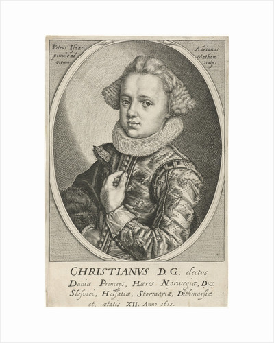 Portrait of Christian of Denmark and Norway by Adriaen Matham
