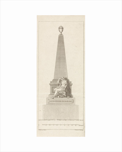 Design for a headstone in memory of Pieter Nieuwland by R. Ziesenis
