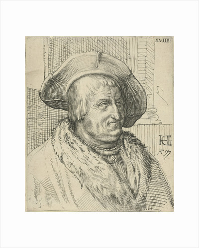 Portrait of a man with a hat by Anonymous