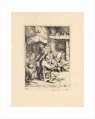 Father feeds a child by Adriaen van Ostade
