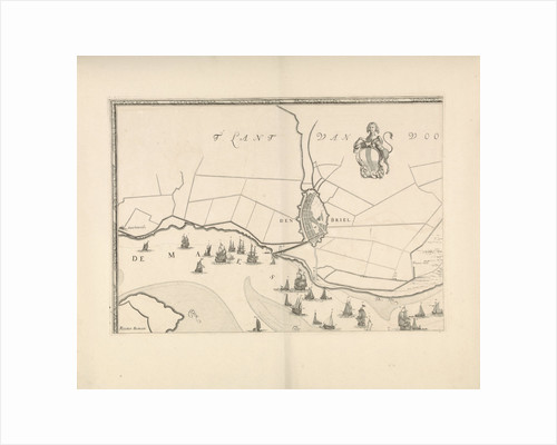 Map of Brielle and the banks of the Meuse by Jacob Quack