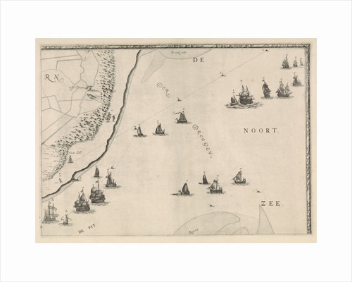 Map of the North Sea and the coast of Holland by Jacob Quack