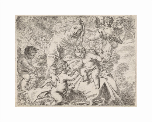 In a landscape is Mary with the Christ Child on her lap by Cornelis Schut I