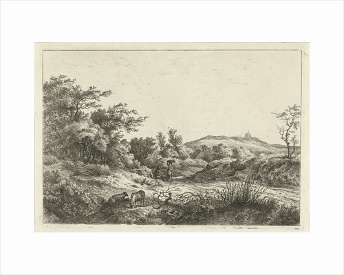 Landscape with Shepherd and wife by Hermanus Fock