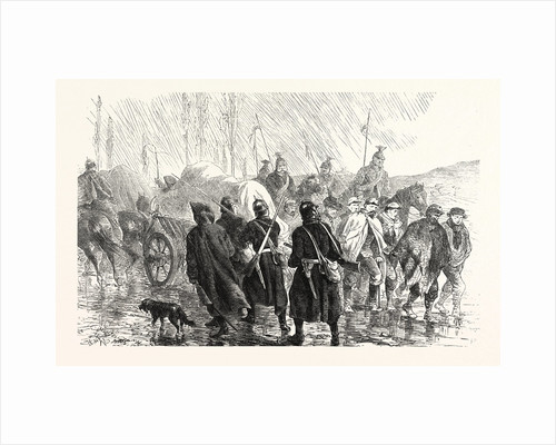 Transport Caught Franctireurs on a Country Road in Burgundy, France by Anonymous