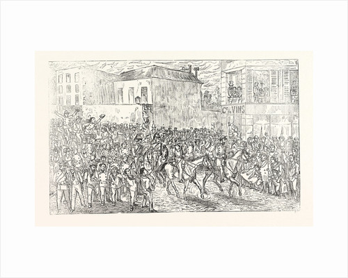 The Mobile Guard from Isle De France Marches in Paris, to the Cheers of the People, France by Anonymous