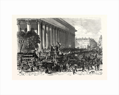 on the Stock Exchange in Paris on 6 August 1870, after Spreading the False News of a Great Victory of Maahon, 1870, France by Anonymous