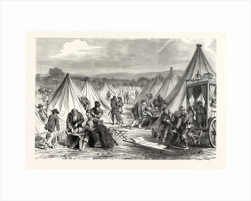 Maahon Captured Camp at Reichshofen Will Be Set Up As Hospital for Wounded Military, on 7 August 1870, France by Anonymous