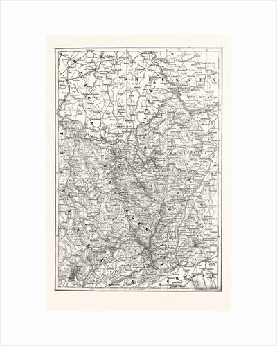 Map of Alsace and Lorraine, Counties Given to the German Empire 1870 by Anonymous