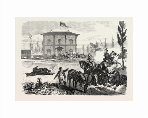 The Railway Station of Courcelles in the Morning of 16 August 1870 by Anonymous