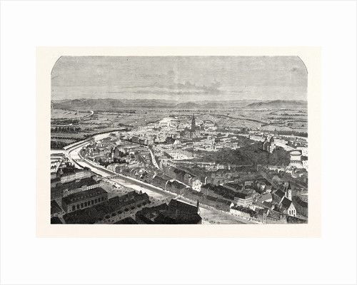 Strasbourg, a Bird's Eye View 1870 by Anonymous