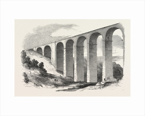 The North Staffordshire Railway: The Congleton Viaduct. UK, 1849 by Anonymous