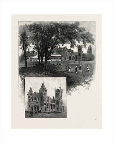 Lieutenant-Governor's Residence (Top); St. Andrew's Church (Bottom), Toronto and Vicinity, Canada by Anonymous