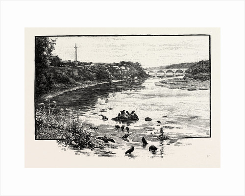 Coldstream Bridge, from Up-Stream by Anonymous