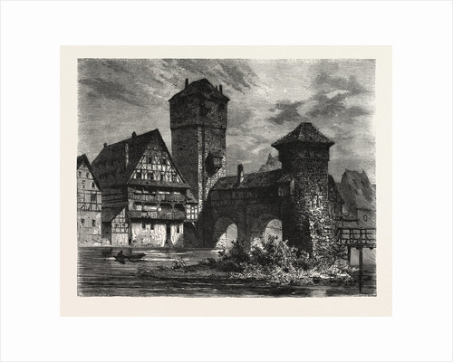 Nuremberg: Old Prison on the Pegnitz, Germany by Anonymous