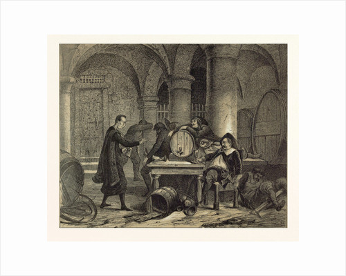 A Party in the Nineteenth Century in the Wine Cellar by Anonymous