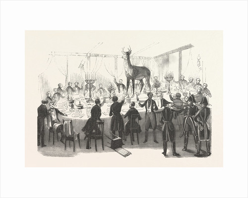 19th Century Dinner Party after the Hunt by Anonymous