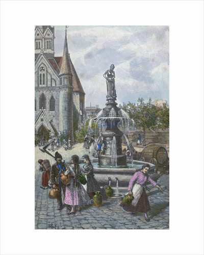 Water Fountain in Szeged Hungary by Anonymous