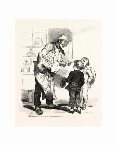 French Cook Talking with Two Children by Anonymous