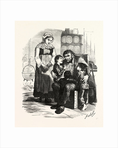 French Family in the Kitchen by Anonymous