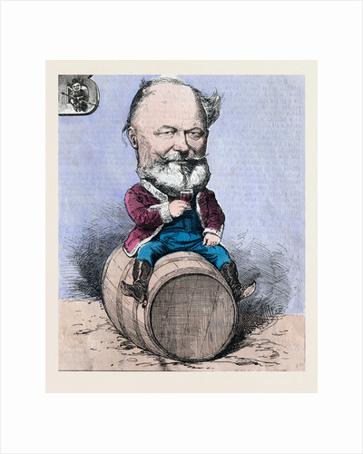 Sitting on a Barrel and Drinking a Glass of Wine by Anonymous