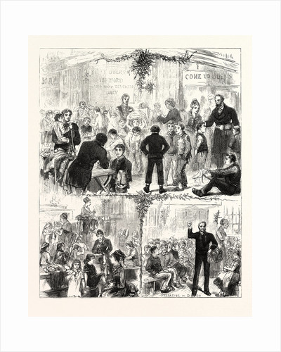 Christmas Day at the Golden Lane Mission: Clothing and Feeding the Ragged Children, 1876 by Anonymous