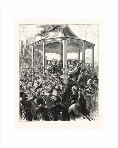 The Reception at the Pavilion, Portsmouth Dockyard, a Floral Display by Anonymous